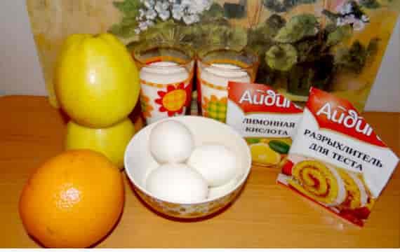 продукты для бисквита