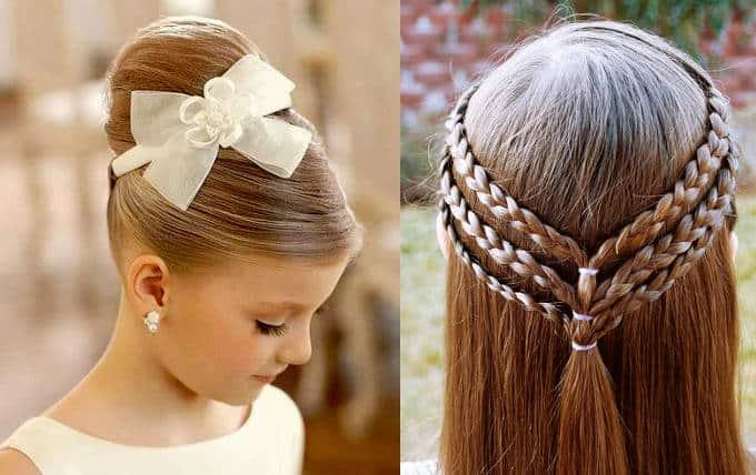 Новорічні зачіски 2017 для дівчаток на довге волосся