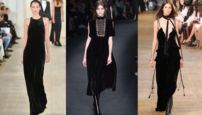 черные бархатные платья