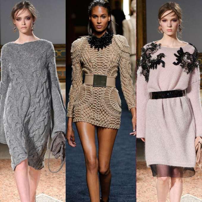 Фасоны трикотажных платьев 2017