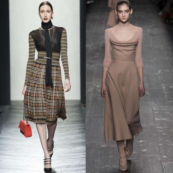 Платья юбки осень-зима