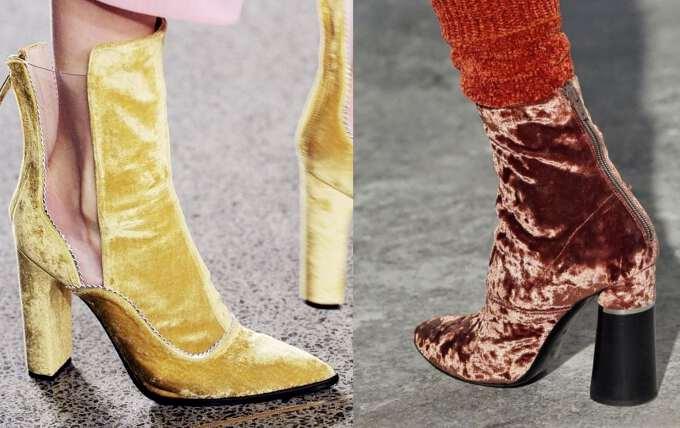 ботинки из бархата