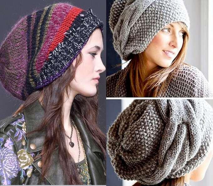 женские шапки зима 2016 2017 вязанные модные модели