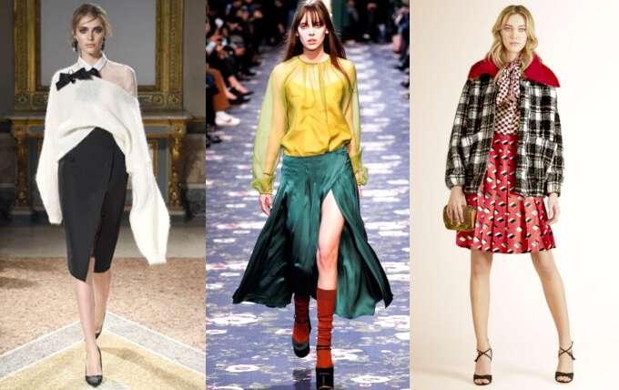 модные юбки разной длины сезона осень-зима 2016-2017