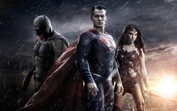 на постере с Бэтменом