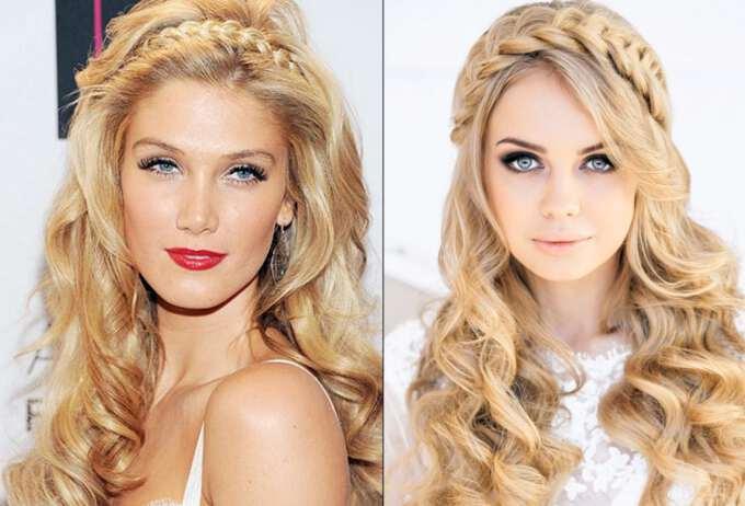 коса и локоны