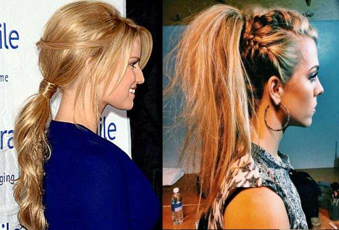 укладка волос в хвост