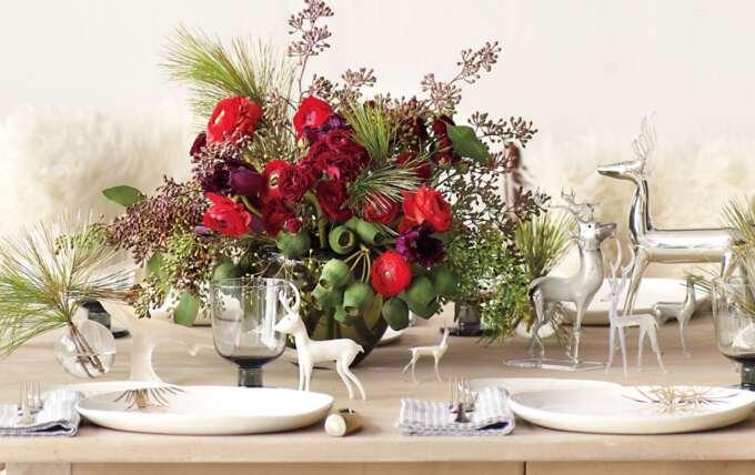 офрмление стола в стиле минимализма