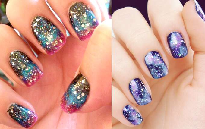 стиль Galaxy Nails