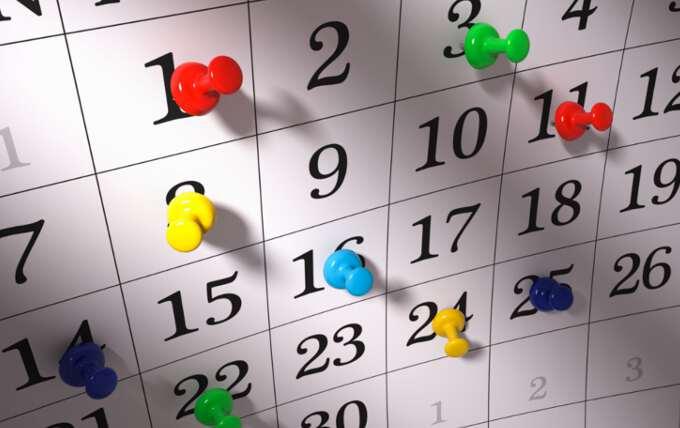 выходные даты в календаре