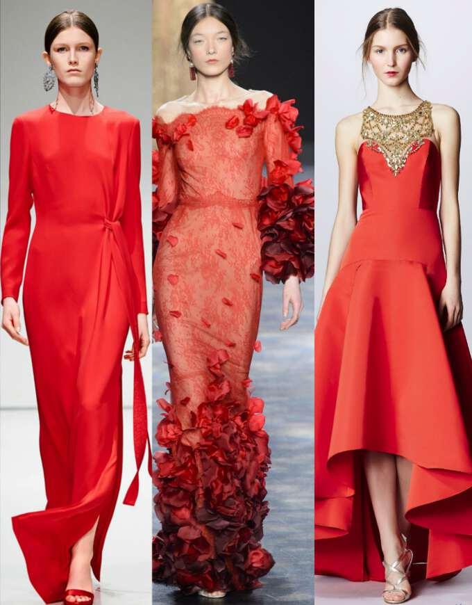 платья огненных цветов