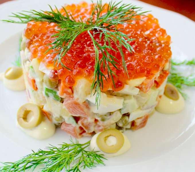 рецепт с рыбой и икрой