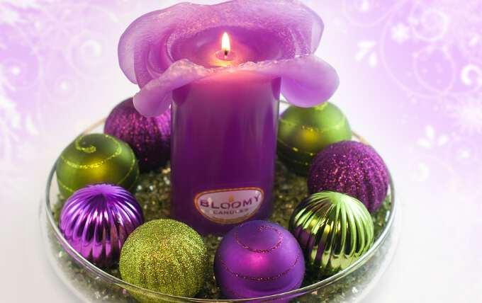 свеча и шарики