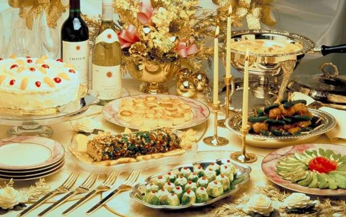 праздничные блюда на новогоднем столе
