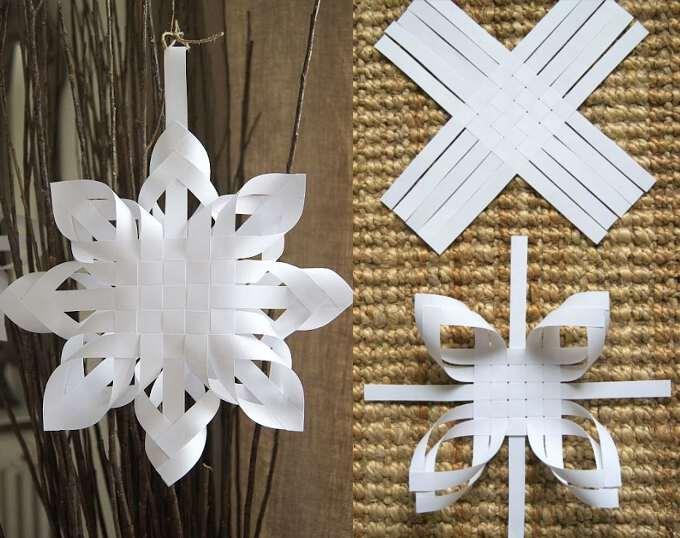 схема ажурного плетения из бумаги