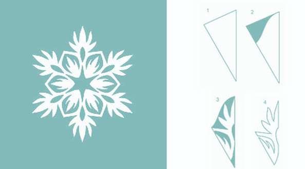простая схема для вырезания снежинки