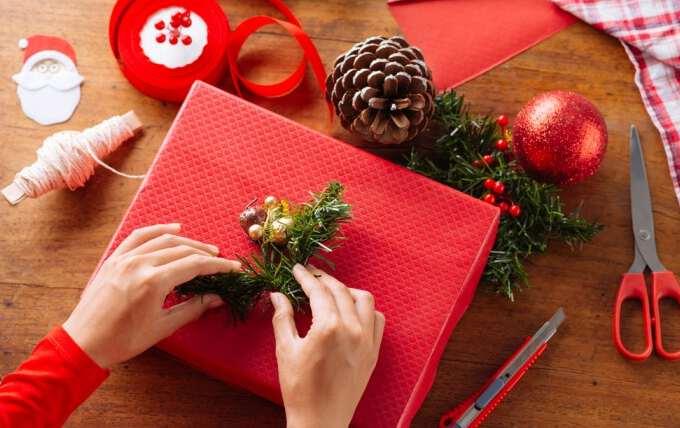 упаковка новогоднего handmade подарка