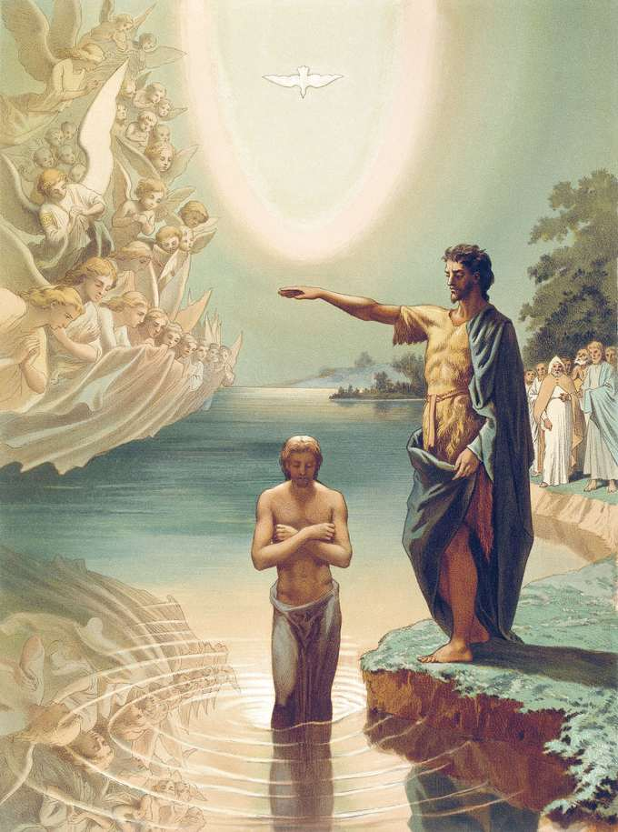 картина на тему крещения