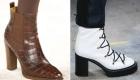коричневые и белые ботинки