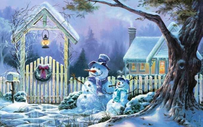рождественский пейзаж