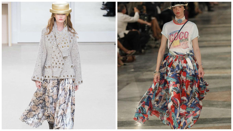 Шифоновые юбки от Chanel