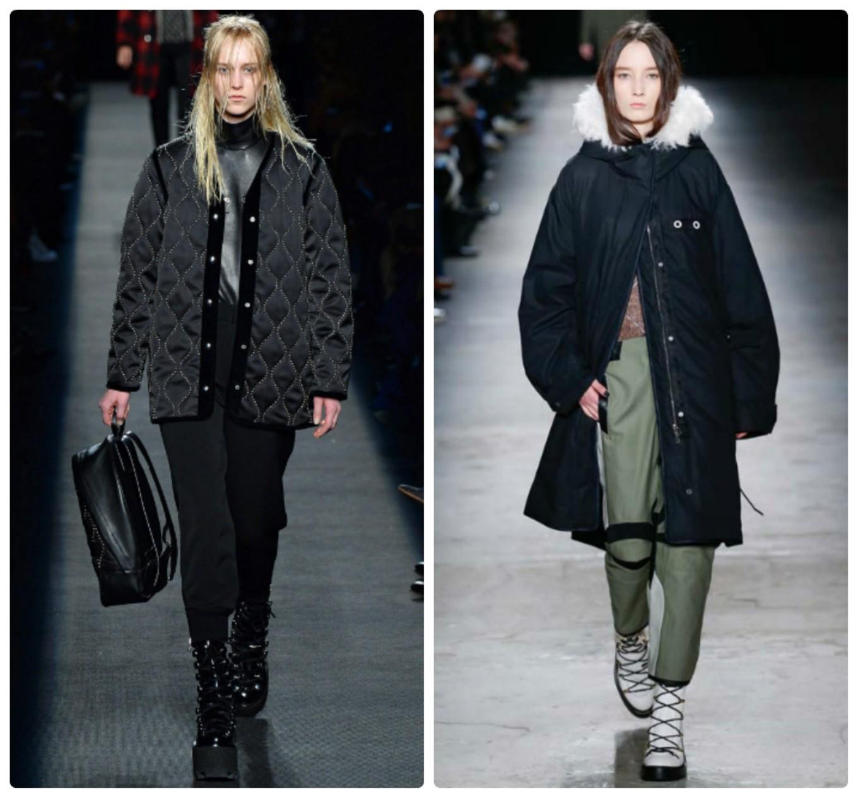 черные стеганые куртки