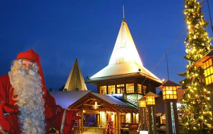 Санта в деревне