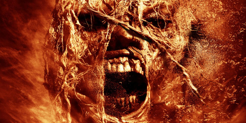 кадр с лицом мумии
