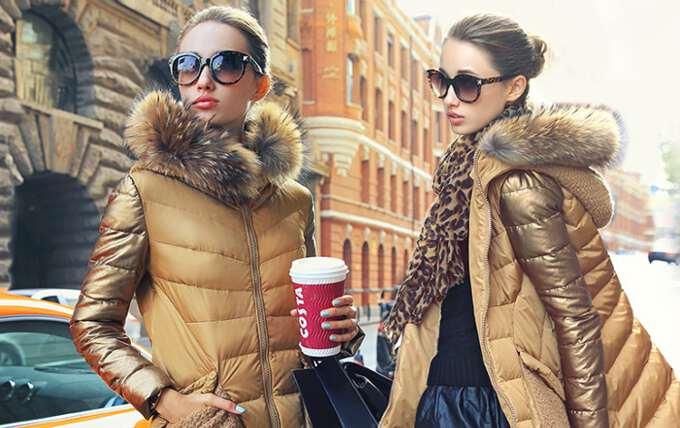 зимние женские пуховики 2016-17 фото
