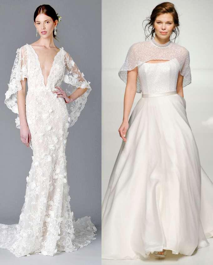 свадебные платья с ажурными накидками 2017