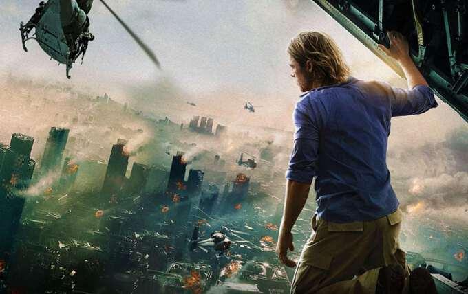 главный герой на крыше небоскреба