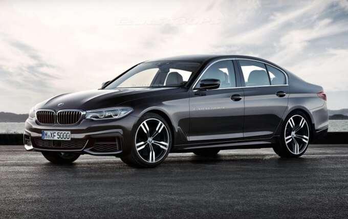 фронтальный вид BMW 5