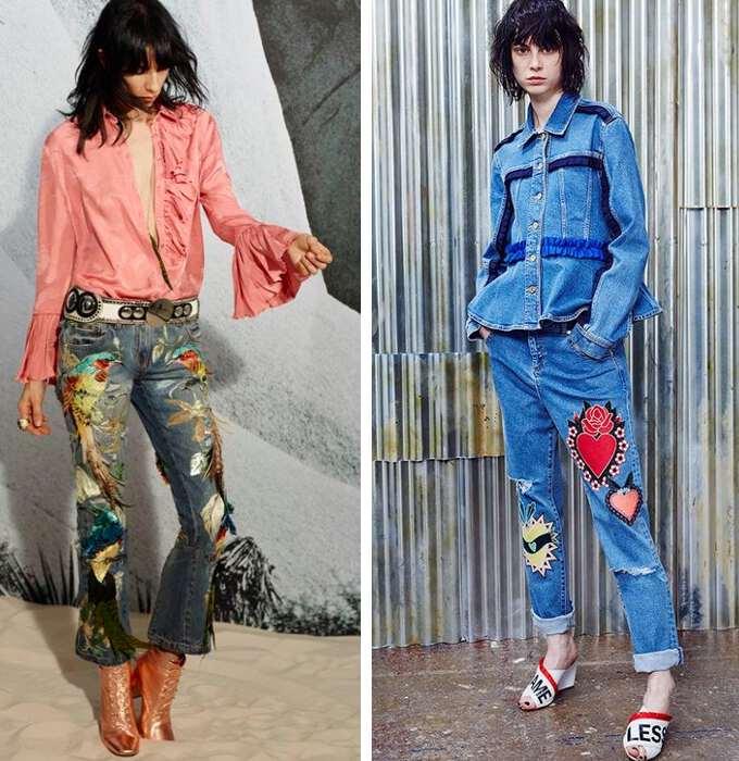 джинсы в стиле бохо 10-41
