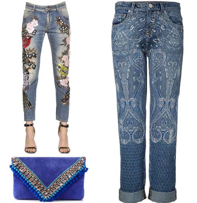 джинсы в стиле бохо 10-42