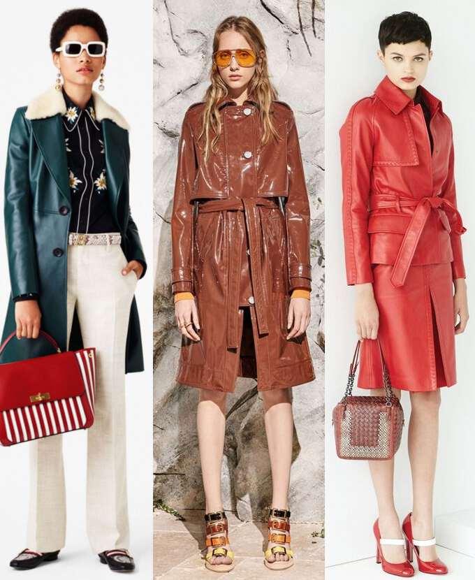 кожаные пальто классического покроя
