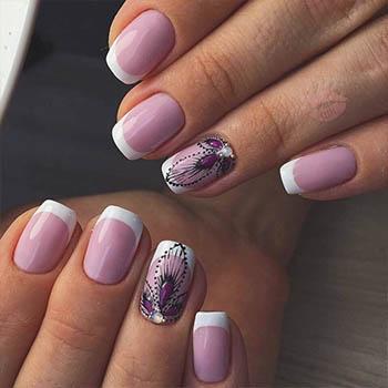 роспись в виде бабочки на ногте