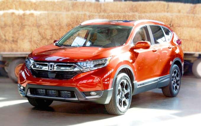 фото Honda CR-V в новом кузове с выставки