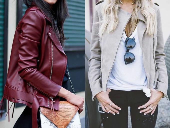 Кожаная куртки весна 2017 женские
