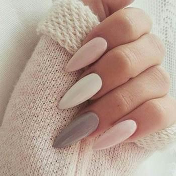 пастельный градиент на длинных ногтях