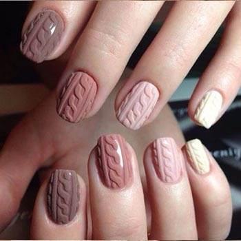 3d узоры на ногтях