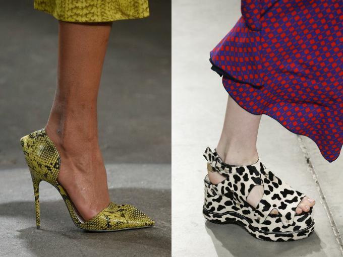анималистичные принты на обуви