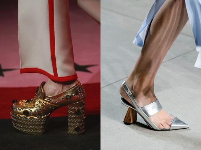 Металлические цвета туфлей