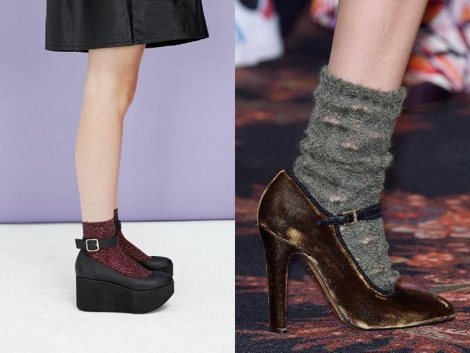 туфли на носок