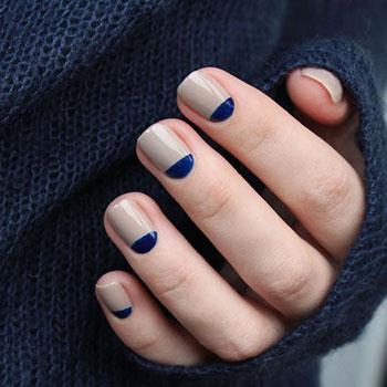 синие лунки и серая основа