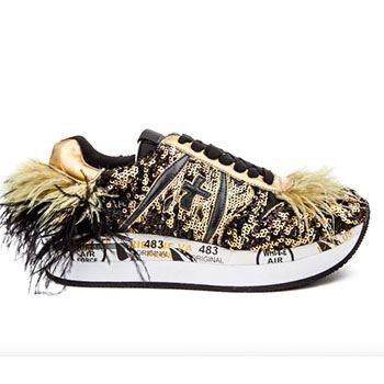 спортивная обувь с перьями