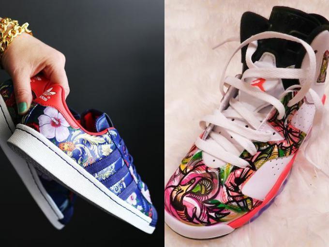 цветочные принты на обуви