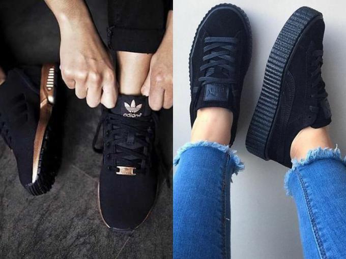 Классический черный цвет обуви