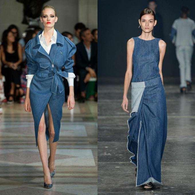 Платья с джинсовой ткани
