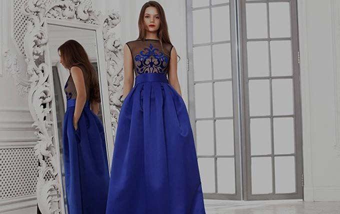 be3ed663caa ... синее платье на выпускной вечер 2017 года